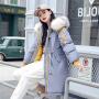 【年货节 直降到底】棉衣女中长款韩版学院风宽松纯色带帽大毛领厚羽绒棉服保暖防寒服