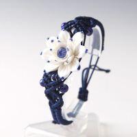 莲生手工手绘陶瓷首饰手链 中国民族古风 青花瓷手镯古典