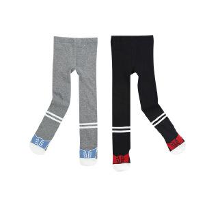 设计感横条中大童秋冬连体裤袜