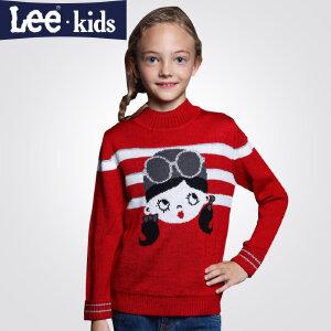 LEE童装 秋款女童套头线衣针织衫中大童儿童长袖毛衣外套2RW50955