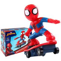 正版全美超凡蜘蛛侠滑板车 充电版旋转翻滚滑不倒儿童特技遥控车
