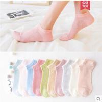 袜子女士船袜浅口纯棉袜户外新品薄款透气隐形糖果色女短袜低帮运动袜