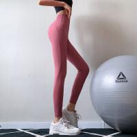 蜜桃翘臀运动裤高腰网纱训练紧身裤女弹力速干跑步瑜伽长裤