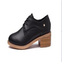 新款英伦风女鞋秋季单鞋女真皮休闲小皮鞋女士百搭工作韩版鞋