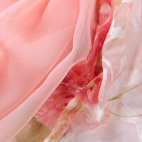 时尚新款桑蚕丝丝巾百搭拼接大规格真丝丝巾围巾披肩两用 可礼品卡支付