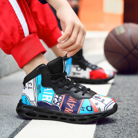 秋季男童运动鞋女童男孩篮球鞋儿童中大童
