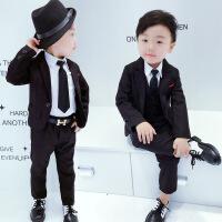 儿童男童西装套装套英伦韩版小孩男宝宝周岁礼服男宝小西服秋