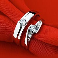 多款可选男女情侣戒指一对 欧美时尚简约仿真钻石 结婚戒首饰 M21 柔情钻戒【情侣一对】