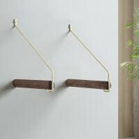 室内挂衣架壁挂式墙上创意装饰客厅卧室衣服杆挂钩衣帽架实木