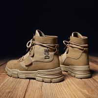 时尚新款夏季潮流男鞋运动休闲高帮帆布板鞋男士高邦港风透气潮鞋