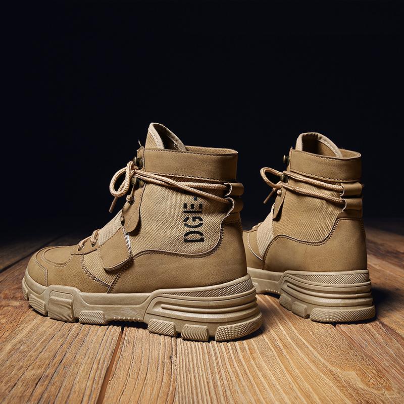 时尚新款夏季潮流男鞋运动休闲高帮帆布板鞋男士高邦港风透气潮鞋 品质保证 售后无忧 支持礼品卡付款