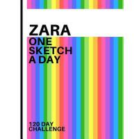 【预订】Zara: Personalized colorful rainbow sketchbook with nam