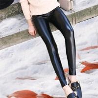 女士皮裤长款女新款秋冬加绒加厚亮皮高腰显瘦外穿韩版打底裤