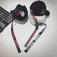 创意时尚长带子棒球帽子男个性韩版潮百搭女夏季嘻哈鸭舌帽弯檐遮阳帽