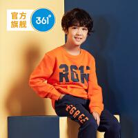 【线下同款】361度男童装儿童休闲套头卫衣2018秋冬季新品 K51843301