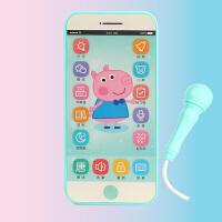可充电触屏录音玩具手机男孩女孩可咬儿童宝宝仿真带话筒智能电话