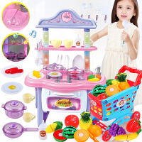 儿童切切乐玩具餐台过家家厨房组合套装女孩男孩