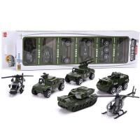 仿真合金车模型各类玩具小汽车男孩儿童消防套装组合军事坦克飞机SN3675 军事战队 合金车模
