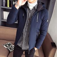 棉衣男士外套冬季2019新款加厚冬装男生棉袄潮牌短款连帽保暖棉服