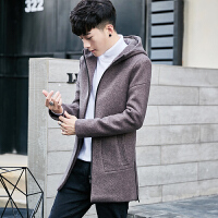毛呢外套男士风衣男中长款韩版加厚呢子大衣青年外套毛妮大衣男潮