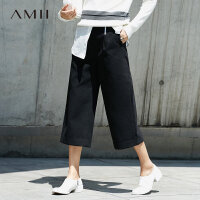 AMII[极简主义]女冬新纯色翻领长款羊毛双面毛呢大衣11642304