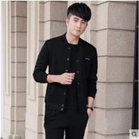 韩版潮流显瘦开衫三件套运动外套男士长袖休闲运动服套装