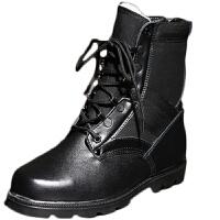 AOTU 冬季羊毛作战靴男特种兵军靴高帮战术靴防寒靴野战靴户外靴 黑色