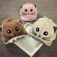 儿童鸭舌帽春秋宝宝帽子1-2岁棒球帽男女韩版潮婴儿帽子6-个月