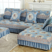 雪尼尔沙发垫四季通用欧式布艺防滑客厅实木沙发套巾全盖