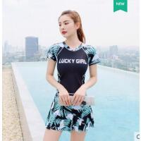泳衣女分体三件套学生清新小胸保守可爱日系韩国ins风仙女范泳装