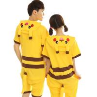 短袖连体睡衣女夏季可爱韩版薄款男情侣家居服