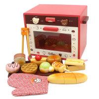 新款仿真烤箱玩具过家家微波炉儿童烤炉宝宝烧烤套装厨房面包礼物