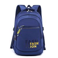 中学生双肩背包小学生书包3-6-9年级男生书包yb 宝蓝 3-9年级