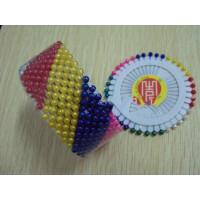 珠光针工艺手工DIY辅料配件塑料珍珠头大头针彩色 黑白色定位针
