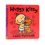 小毛孩小脏孩 Huggy Kissy 亲亲抱抱 英文原版绘本 Leslie Patricelli 幼儿启蒙认知纸板书