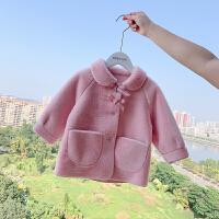 女童外套冬装儿童女宝宝蝴蝶结可爱毛毛外套上衣
