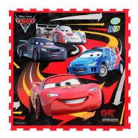 正品迪士尼汽车总动员 婴儿童泡沫地垫 9片装 地板拼图拼接爬行垫宝宝爬爬垫子
