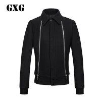GXG男装 男士夹克 藏青帅性修身羊毛呢夹克外套#54221511