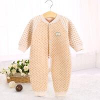 秀贝星 秋冬新款婴儿连体衣 纯棉长袖宝宝保暖哈衣开档婴儿服装