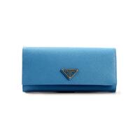 【网易考拉】PRADA 普拉达 女士时尚简约长款钱夹 蓝色