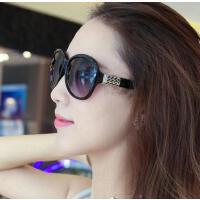 太阳镜女士户外新品网红同款新款优雅个性墨镜潮明星款眼镜圆脸韩版复古眼睛