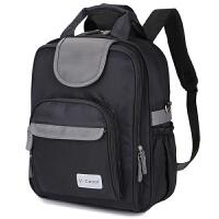V-Coool妈咪包 商务休闲两用大容量双肩妈咪包双肩背包旅行包 气质黑