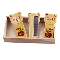 20180714165823007淘乐士可爱卡通熊折叠化妆镜梳子套装便携随身镜梳旅行带镜折叠梳