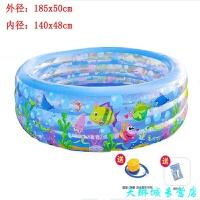 充气游泳池方形洗澡桶浴缸加厚加高家庭水池婴幼儿童浴盆