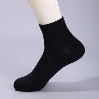 袜子男士纯棉袜男人春秋季薄款吸汗运动商务男袜纯色中筒袜子 均码