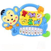 儿童动物琴电子琴多功能宝宝早教启蒙音乐灯光玩具互动学习1-3-6岁女孩玩具礼物
