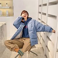 七格格棒球羽绒服女中长款2019新款冬季宽松韩版时尚面包服外套厚