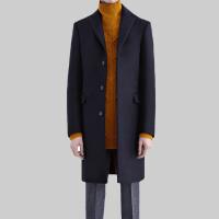 2017秋冬季新款毛呢大衣男士中长款宽松羊绒外套青年加厚呢子风衣
