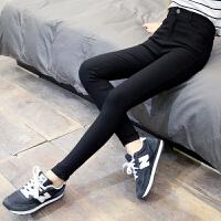 黑色打底裤女外穿加绒加厚紧身休闲长裤高腰显瘦秋冬季小脚铅笔裤