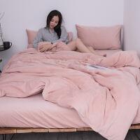 冬季纯色加厚法兰绒天鹅绒四件套珊瑚绒短毛绒床单被套床上三件套